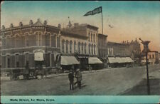 Le Mars LeMars IA Main St. c1910 Postcard