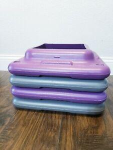 Set of 4 Pink/Purple Risers Blocks for Health Club Step Aerobic Fitness 16x16