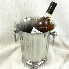 More details for vintage champagne bucket french mirror polished steel jean couzon wine cooler