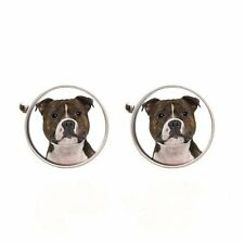 Staffordshire Bull Terrier Dog Staffie Mens Cufflinks Ideal Birthday Gift C24