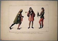 Gravure de Jacquemin, Costumes Vénitiens, Fauconnier