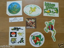 STICKER,DECALS SET ANIMALS KIKKERS, FROGS LOT OF ABOUT 11 STICKERS SEE PICTURES