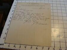 Original 1905 BILLHEAD: J. F. DARNELL, CROSS TIES & GEN MERCH, Freeport, W. VA.