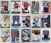 Game Used Jersey Patch Numbered Cards - Choose From List -  See Scans NHL Hockey