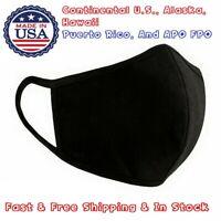 5 x Black Multi Layer Soft Cotton Face Nose 3D Mask Unisex Washable Reusable