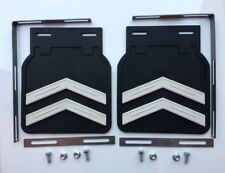VW Split Oval Bug Beetle Kaffer Accessory Mud Flaps Chevron type Set pair!