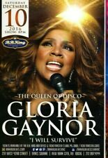 GLORIA GAYNOR Tavares Disco concert postcard NYC Will Survive Just Us Blu Lilly