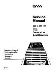 ONAN 200 230 350 kW YB Generator Control Service Manual