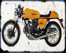 Ducati 750 Sport 72 A4 Metal Sign Motorbike Vintage Aged