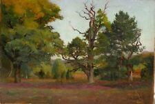 Tableau début 20ème G. Dussart paysage arbres