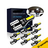 10x T10 Bulbs W5W 501 Canbus Lights LED 7020 SMD Bright White Car Error Free