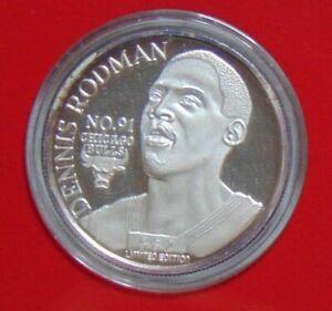 DENNIS WORM RODMAN CHICAGO BULLS ENVIROMINT COIN .999 FINE SILVER ROUND DETROIT