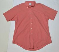 Men's BROOKS BROTHERS Red White Checkered Button Down Shirt Size Large L