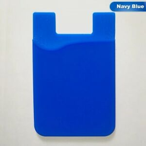 Adhesive Pocket stick on Wallet Card Holder Pouch Case (Black,Blue,White)