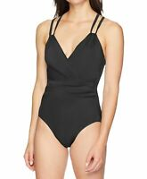 Coastal Blue Women's Swimwear Black Size Medium M One Piece Swimsuit $88 #492