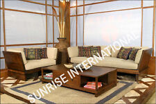 European Style Wooden Sofa Set  3 + 1 + 1 + Center table !!