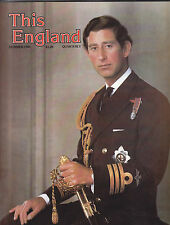 This England Magazine Summer 1981 Prince Charles of Wales cover FREE USA SHIP