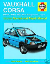Haynes Manual Vauxhall Opel Corsa 1993-1997 Gasolina 1985