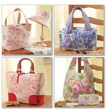 McCalls 4400 Paper Sewing Pattern Laura Ashley Tote Coin Purse Hat Cosmetic Bag