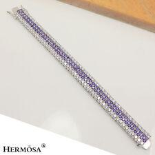 """Hot 925 Sterling Silver Bracelet 7"""" 75% Off Fashion Jewelry Purple Amethyst"""