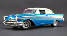 ACME 1957 Chevrolet Bel-Air Hot Rod Blue & White Limited pcs 1:18 New Item*RARE!
