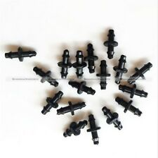 """100PCs 1/4"""" Barbed Connector Double Way For 4/7mm Garden Drip Irrigation Hose"""