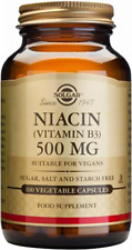 Solgar Niacin 500 mg (Vitamin B3) 100 Vegetable Capsules