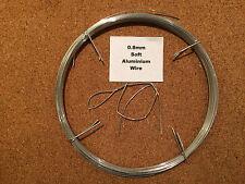 0.8mm x 20m 21 SWG SOFT Aluminium Wire Armature Craft Jewellery Model Sculpting