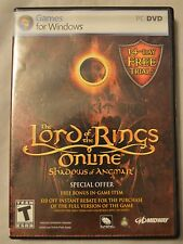 THE LORD OF THE RINGS ONLINE: SHADOWS OF ANGMAR - WINDOWS PC DVD GAME