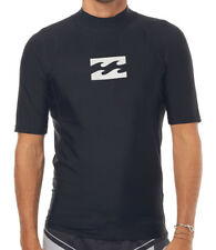 NEW + TAG BILLABONG MENS (S) ALL DAY WAVE WETSHIRT RASH VEST SHORT SLEEVE BLACK