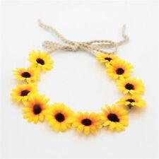 Sunflower Garland Floral Crown Weave Hairband Headband Beach Party Headpiece