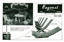 Publicité ancienne salon de jardin Hugonet 1959 issue de magazine