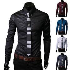 Polyester Unbranded Slim Fit Business & Formal Shirts for Men