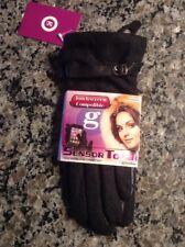 NWT $72 Womens S Small Grandoe Touchscreen Gloves Wool Leather Black Winter