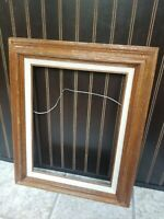 GORGEOUS VINTAGE MCM STYLE LARGE WOOD FRAME GREAT TEXTURE FITS 12X16