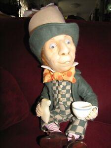 "R. John Wright Alice in Wonderland 16"" Mad Hatter Doll"