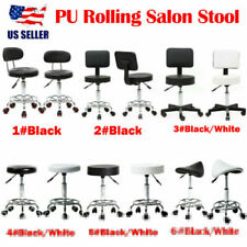 Adjustable Rolling Stool Salon Spa Chair W/Rolling Wheel Hydraulic Nail Pedicure