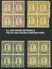 "COLOMBIA ANTIQUA 1899, 20c-2P ""IMPERF BETWEEN+ DOUBLE PERF"" Sc#124-7 (SEE BELOW)"