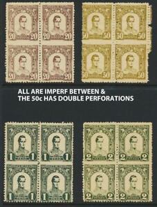 "COLOMBIA ANTIQUA 1899, 20c-2P ""IMPERF BETWEEN+ DOUBLE PERF"" Sc#124-7 (SEE BELOW)"