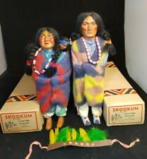 Skookum Bully Good Indian Chief & Head Dress and Woman With Baby Original Boxes