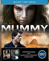 The Mummy (Blu-ray + DVD) Tom Cruise NEW w/Collectible Graphic Novel Free Ship
