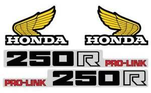 1983 HONDA CR 250 GAS TANK SHROUD & SWINGARM DECAL GRAPHIC SET VINTAGE MOTOCROSS