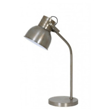 Table Lamp 20x65CM Kane Vintage Weathered Silver/Shiny White