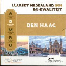Nederland,Officiële BU Euro muntenset 2018 Nationale Collectie - Den Haag(MT651)