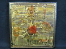 Bernhard Rohne 1971 Original Signed Artwork; Etched and Oxidized Metal