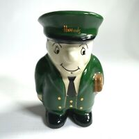 "1970s HARRODS London, England Department Store DOORMAN EGG CUP porcelain 4"" tall"