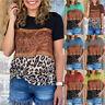 Women's Crew Neck Print Street Trendy Blouse Hedging Loose Short Sleeve T-shirt