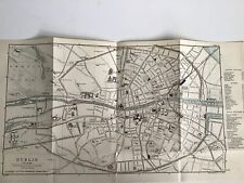 Dublin, 1894 Antique Street Map, Ireland Bartholomew Original, Railways Hotels