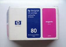 HP 80 Magenta c4847a 350 ml designjet 1000 1050 1055 --- NEUF dans sa boîte 25/07/2008