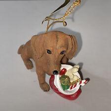 "New ListingDanbury Mint Dachshund Christmas Ornament ""All For Me�"